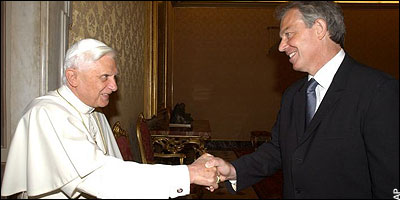 the Pope, Tony Blair