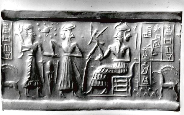 "Sumerian seal with ""extra planet"""