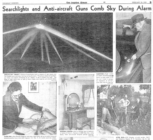 Battle of Los Angeles LA Times Feb 26, 1942