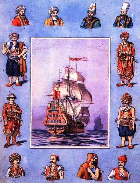 Ottoman ship, sailors